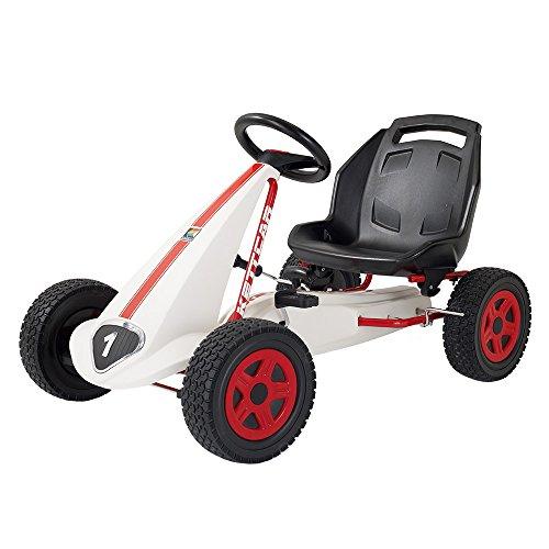 Kettler Kettcar Daytona - DAS ORIGINAL - Kinder Go Karts - robustes Tretauto - mit hochwertiger Kunststoffbereifung - weiß & rot