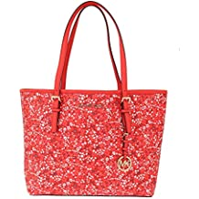 Michael Kors Handbags Brown JET SET TRAVEL Leather Tote Bag