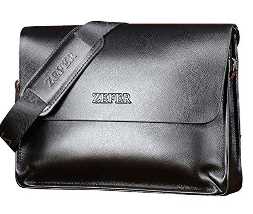 Porte-documents les Sacs de cuir neuf cartable sac à main affaires et de loisirs épaule marque hommes Messenger SAC Noir
