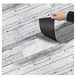 DMMASH PVC-Boden Aufkleber Selbstklebende Anti-Rutsch-Boden Aufkleber Grau Dekorative Wandaufkleber