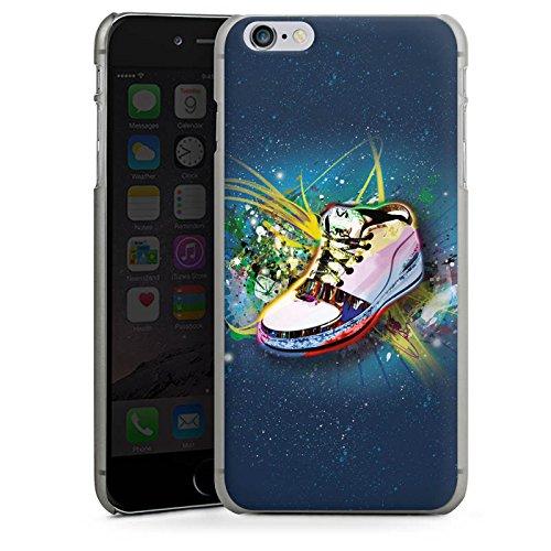 Apple iPhone X Silikon Hülle Case Schutzhülle Schuhe Sneaker Muster Hard Case anthrazit-klar