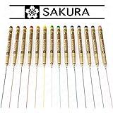 Sakura Pigma MicronRotuladores de punta fina de color, set de 14,0,5mm