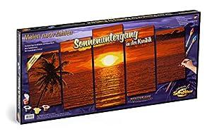 Schipper - Pintura por números, la Puesta de Sol en Caribe, 132 x 72 cm (Noris Spiele 609450728)