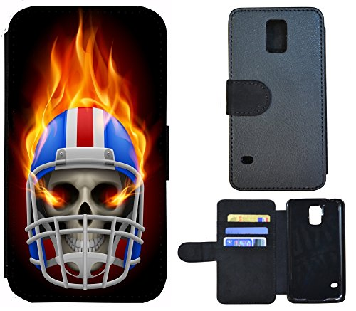 Coque Flip Cover Housse Etui Case Pour, Tissu, 1154 Abstract Schwarz Gold, Apple iPhone 4 / 4s 1159 Totenkopf Skull Helm Bunt