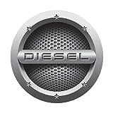 #4: CVANU® Grey Diesel Car Fuel Lid Decal /Sticker Printed (12cm) For Hyundai Xcent