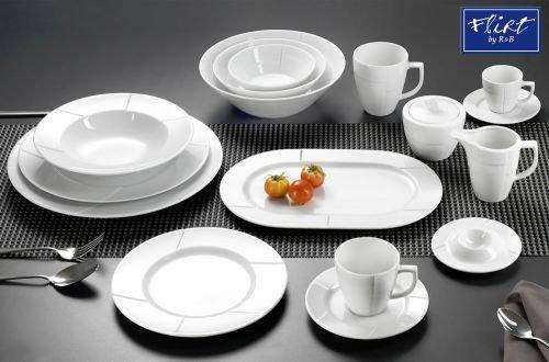 Flirt By R&B Geschirr-Serie Step Material Servierplatte oval 32,5 cm Step