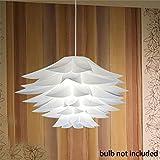 YUOKI99 Lampe Puzzle Lotus Abat-Jour IQ Plafond E27 Lampe Suspension Lustre de Fleur LED Plafonnier Pendentif Lampe pour Salon Chambre Salle À Manger Décor Éclairage (35cm)