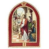 Holyart Via Crucis: Tablas ojivales Madera 15 Estaciones