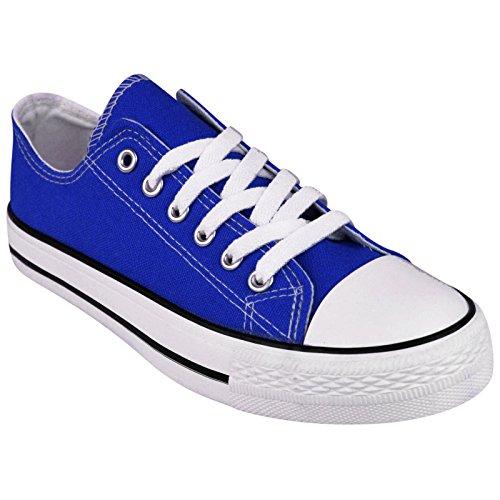 MYSHOESTORE  Canvas, Damen Sneaker Weiß weiß Blau