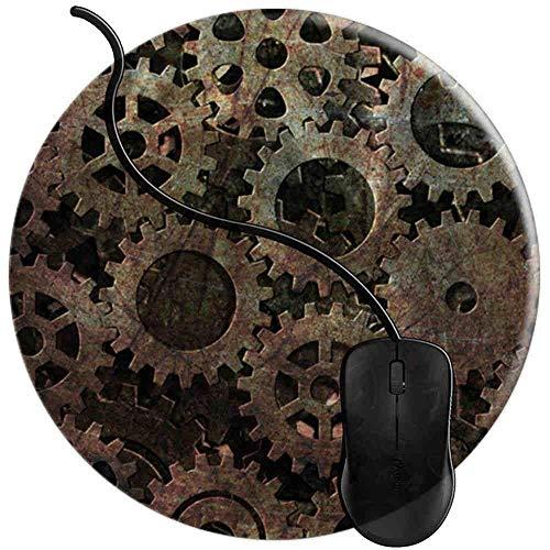 Gaming Mauspad Runde Uhrwerk Uhr, Oberfläche verbessert Geschwindigkeit und Präzision rutschfest Mouse Pad Img2781