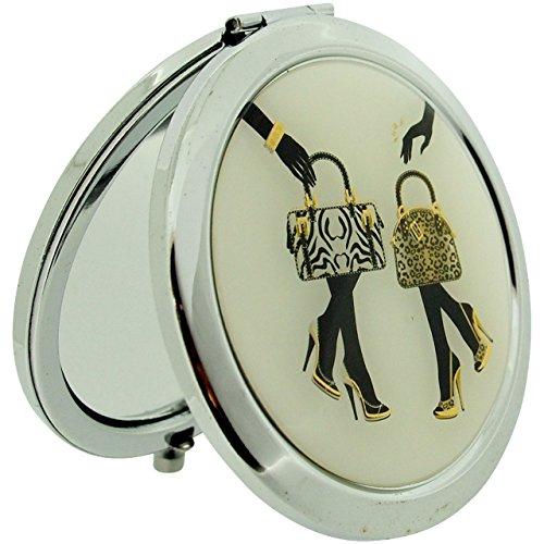 Einfach elegante Animal Print Taschen und Schuhe Kompakte Handtasche/Reise Spiegel usm17 (Print-schuh-tasche)