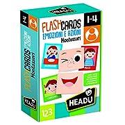 Quaranta grandi carte smerigliate per svolgere tante attività educative: insegnare al bambino a riconoscere il proprio corpo e le emozioni e farlo divertire a creare tante buffe espressioni.