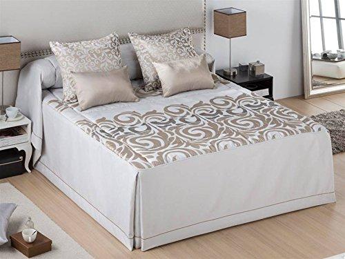 LaNovenaNube - Colcha edredón BOLOGNA cama 150 - Color Oro