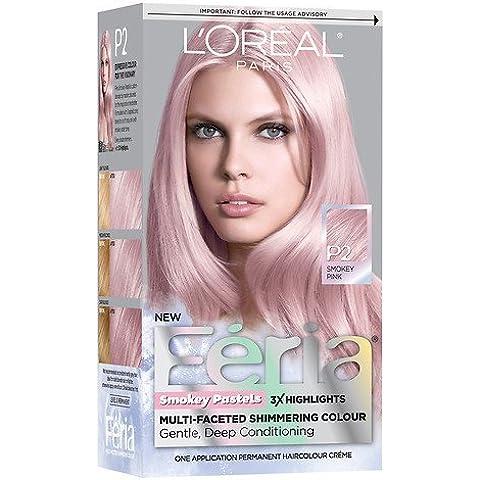 L'Oreal Hair Color Feria Pastels Dye, Smokey Pink P2 by Unknown
