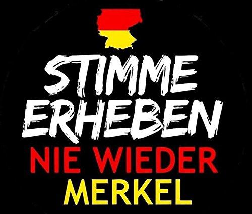 50 Stück Aufkleber Sticker - Stimme erheben: Nie wieder Merkel DIN A7