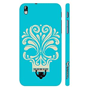 HTC Desire 816 Blue Piano Skull designer mobile hard shell case by Enthopia