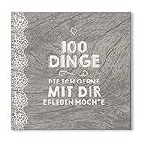 bigdaygraphix Buch - 100 Dinge,die ich gerne mit Dir erleben möchte - blanko Vintage & Spitze Geschenk Partner
