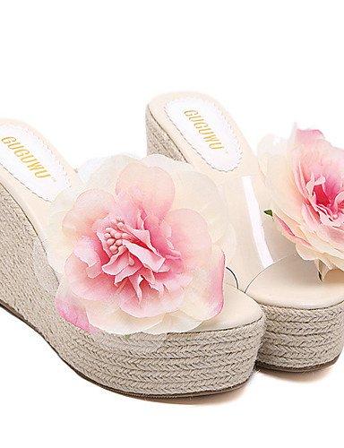 UWSZZ IL Sandali eleganti comfort Scarpe Donna-Sandali-Formale-Zeppe / Plateau / Aperta-Zeppa-Silicone-Verde / Rosa Green