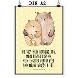 Mr. & Mrs. Panda Poster DIN A2 Bären Liebe - Liebe, Verliebt, Verlobt, Verheiratet, Partner, Freund, Freundin, Geschenk Freundin, Geschenk Freund, Liebesbeweis, Jahrestag, Hochzeitstag, Verlobung, Geschenk Hochzeit, Bären, Bärchen, Bär Poster, Wandposter, Bild, Wanddeko