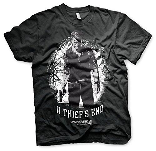 Preisvergleich Produktbild Offizielles Lizenzprodukt Uncharted 4 - A Thief´s End T-Shirt (Schwarz), Small