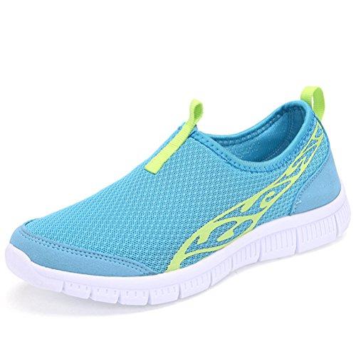 Deslizamento Circulares Malha Senhoras Colorido Suave Toe Padrão Sneakers Luar Leve De Confortável Nuvens Das Xqw6fnrX