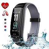 Yoolaite Fitness Armband Wasserdicht Fitness Tracker Uhr Blutdruckmesser Farbbildschirm Aktivitätstracker Fitness Armbanduhr Stoppuhr Schrittzähler Pulsmesser