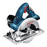 Bosch Professional 060166H00A GKS 18 V-LI Akku-Kreissäge, 2 x 5, 0 Ah Akku, Schnellladegerät, Parallelanschlag, L-Boxx (18V, Schnitttiefe: 51mm (91) 40mm (45), Sägeblatt-: 165 mm), 0 W, 18 V