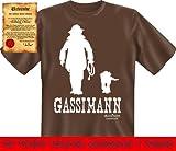 Bedruckte Hunde Sprüche Fun Tshirt! Gassiman! - Lustige Witzige Motive mit Gratis Urkunde von Goodman®