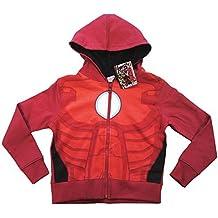 Oficial Iron Man de Los Vengadores niños superhéroes cremallera sudadera con capucha para niños tamaños
