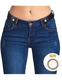 9cfdf46da10d No Buckle Invisible Ladies Elastic Waist Belt for Women Men Stretch Belt  for Jeans Dress Pants