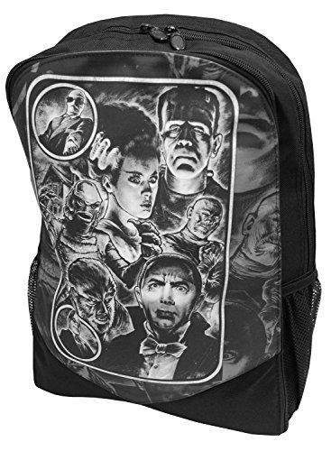 Preisvergleich Produktbild Monster Mash Horror Film echtem Darkside Frankenstein Wolf Man Rucksack Rucksack Laptop Tasche