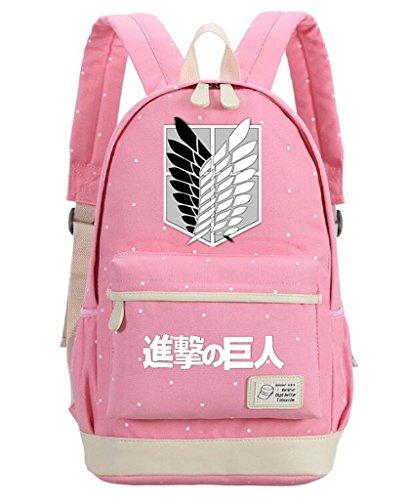 ff auf Titan Cosplay Rucksack/Daypack/Schulranzen Schultertasche Schultasche Pink 2 ()