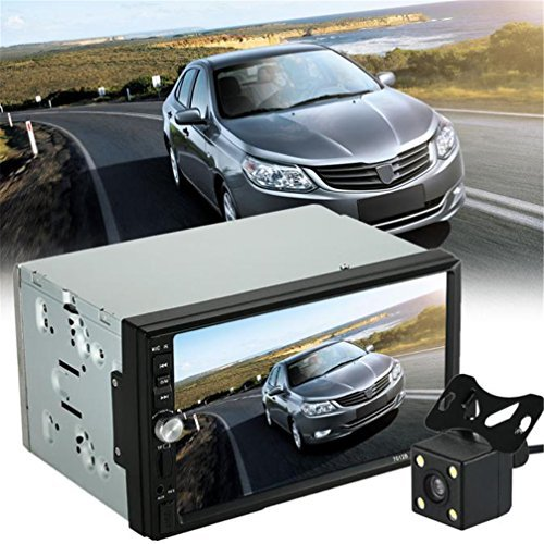 """Goodtrade8 Gotd 7"""" Double 2 Din Bluetooth MP5 MP3 Player Radio USB AUX with Parking Camera"""