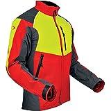 Produkt-Bild: Pfanner 105544/2XL Forstjacke Ventilation Größe XXL in rot/gelb / grau