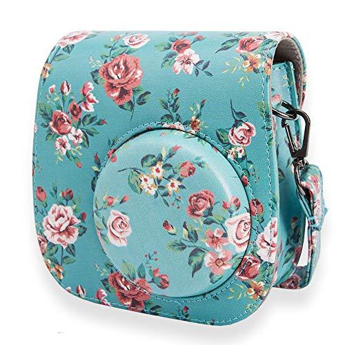 Annle Tasche Kompatibel mit Instax Mini 9 / Mini 8 8+ Sofortbildkamera aus Weichem Kunstleder mit Schulterriemen und Tasche (Rose A)