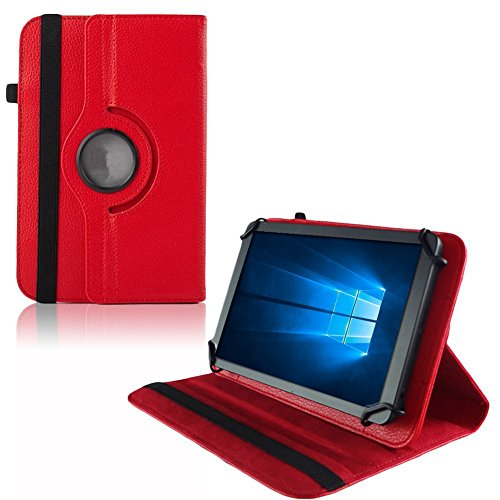 UC-Express Hülle Blaupunkt Enterprise 1020CH Tablet Tasche Schutzhülle Universal Case Cover, Farben:Rot