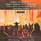Johannes Brahms : Symphony No.4 - Franz Schubert : Symphony No.8 Unfinished