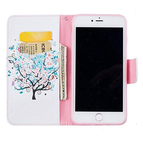 """iPhone 7 Plus Coque, ONLY pour 5.5"""" iphone 7 Plus Housse - MYTHOLLOGY avec Support Housse PU Cuir Étui à rabat Portefeuille Antichoc Cover - XH XS"""