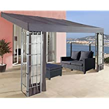Anbaupergola Alu Optik in Anthrazit 3x4m