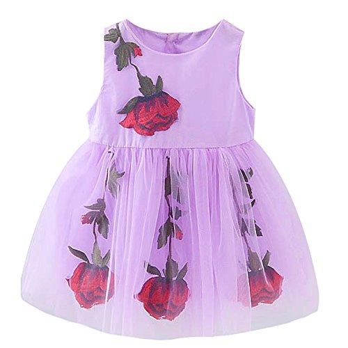 Bai You Mei Baby Mädchen (0-24 Monate) Kleid Gr. L, violett