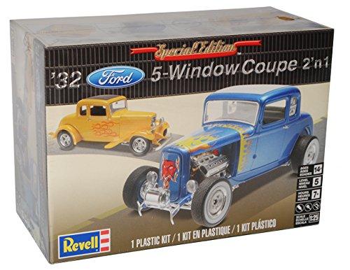 Ford 5-Window Coupe Blau 1932 85-4228 Bausatz Kit 1/25 1/24 Revell Monogram Modell Auto