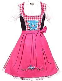 Trachtenkleid 3tlg. Kinder Dirndl Mädchen Kleid Gr. 86,92,98,104,110,116,122,128,134,140,146,152