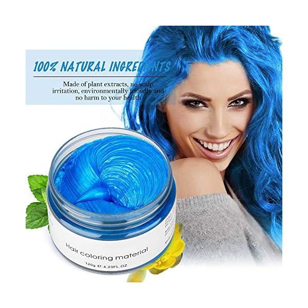 120g Cera para el cabello, Crema Para Colorante Pelo Temporal Duradera, Lavable Tinte Temporal Capilares, Color del…