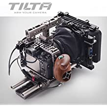 TILTA ES-T17 C Sony Alpha A7S A7R A7S II A7R II Mark II MK2 A7S2 A7R2 Lightweight ES-717A rig Cage 15mm rod release baseplate + FF-T03 Follow focus +MB-T05 4*4 Mattebox + wooden handle (record function}