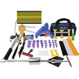 Weylon Paintless Dent Reparación Pdr Dent Puller Kit Kits de martillos de diapositivas Kit de reparación de Hail Dent Media Reparación PDR Kit de pegamento (53 pcs)