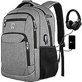 Rucksack Herren, Schulrucksack Jungs mit USB-Ladeanschluss, Laptop Rucksack 15,6 Zoll für Arbeit Reisen Schule Herren Oxford 30-45L