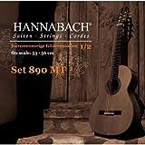 Hannabach 653079 Set Corde per Chitarra Classica Serie 890MT, Chitarra Ridotta 1/2, Misura 53-56cm