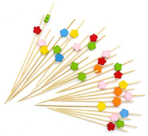 (PuTwo Cocktailspieße Toothpicks Party Supplies 100 Count 12.5cm - Blume)