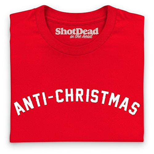 Anti-Christmas T-Shirt, Herren Rot
