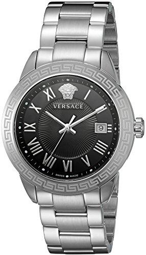 Versace pour homme P6q99gd008S099Paire Affichage analogique à quartz Argent montre